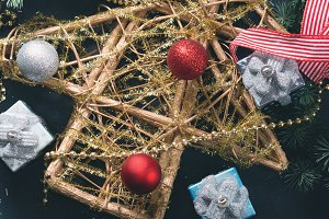 Cristmas ornaments background