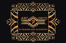 51 Art Deco Frames & Elements Vol7