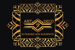 51 Art Deco Frames & Elements Vol7