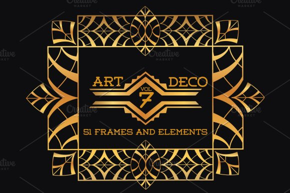 51 art deco frames
