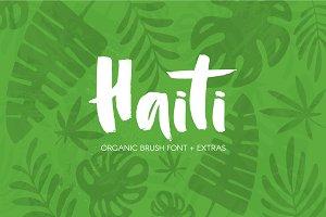 Haiti Organic Brush Font +Extras