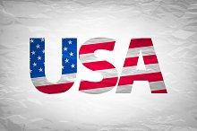 USA typography design
