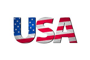 USA typography design