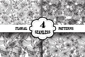 Black and White Floral Patterns(1)