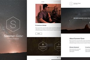 Summer Gone - One Page PSD Template