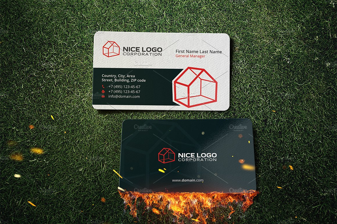 3d house business card business card templates creative market colourmoves