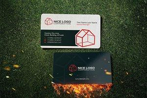 3d house business card