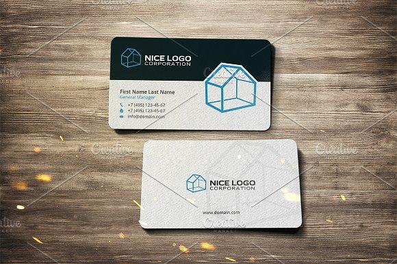 3d house business card business card templates creative market colourmoves
