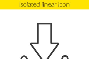 Download arrow linear icon. Vector