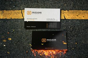nuclear business card