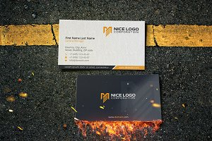 me logo business card