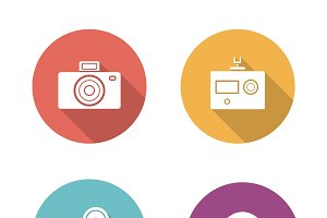 Digital camera icons. Vector