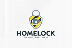 Home Lock Logo Template