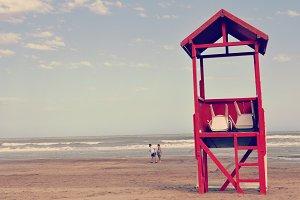 [-50%] Red Lifeguard House - JPEG