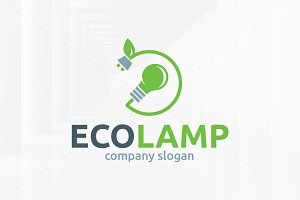 Eco Lamp Logo Template