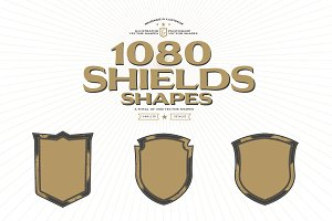 1080 Vector Shields Shapes