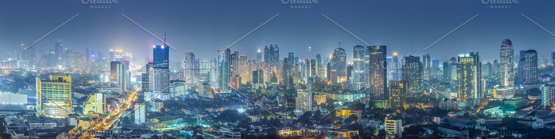 Panorama Views of Bangkok