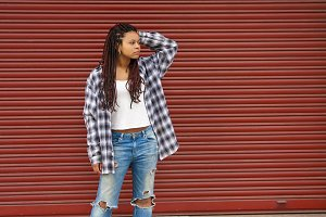 young woman urban style