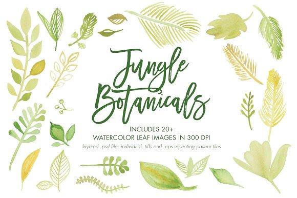Yellow and Green Jungle Botanicals