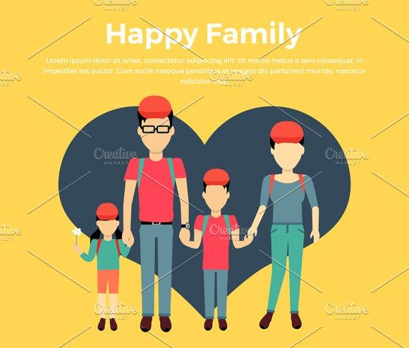 Happy Family Concept Banner Design