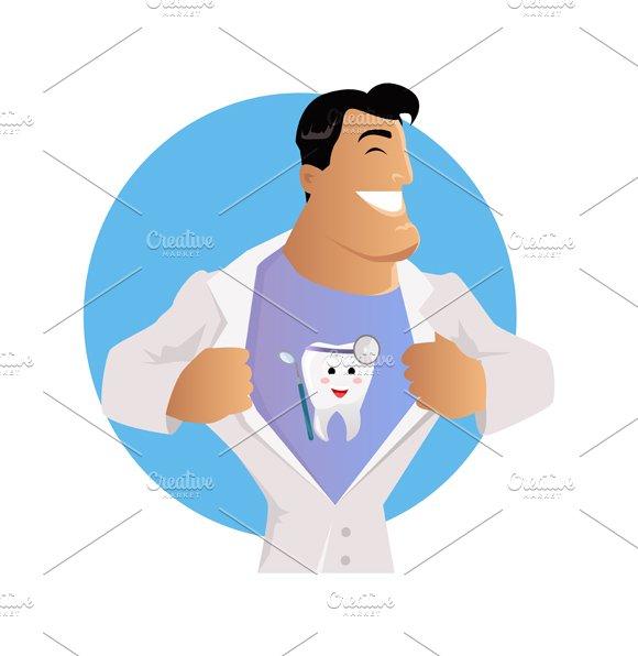 Doctor Dentist Character Design Flat
