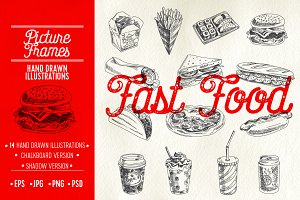 Hand drawn fast food illustrations