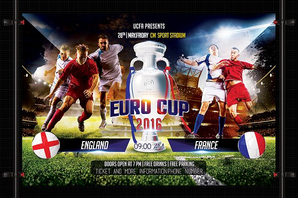 Euro Cup 2016 soccer-Graphicriver中文最全的素材分享平台