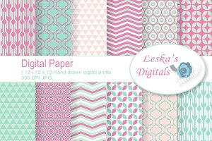Digital Paper - Geometric Designs
