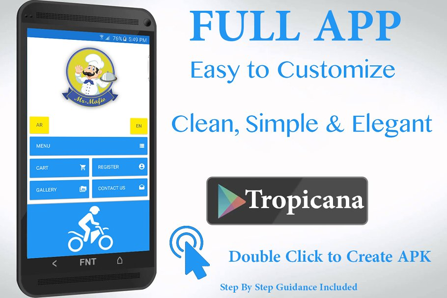 Food Delivery App with CMS (Android) ~ Web Themes ~ Creative Market