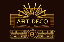 Art Deco Frames & Cards Vol8