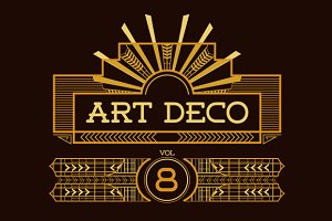 Art Deco Frames & Cards Vol8