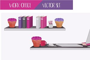Work Office - Vector Set