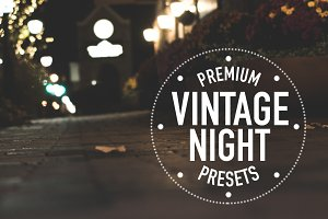 Vintage City Night Lightroom Presets