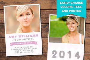 Pink Graduation Announcement