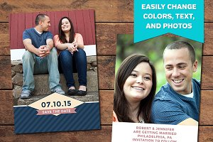 Stripey Save the Date Template