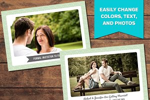 Minty Save the Date Card Template