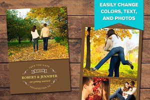 Fall Save the Date Template