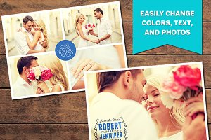 Collage Save the Date Template