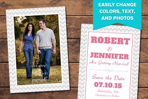Chevron Save the Date Template