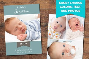 Hatch Birth Announcement Template