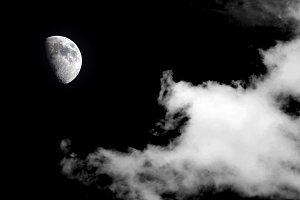 moon with cloud background
