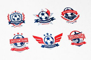 Soccer Club Logo Set (6 Logos)