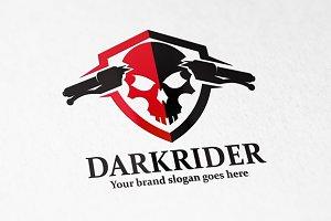Dark Rider Skull Logo