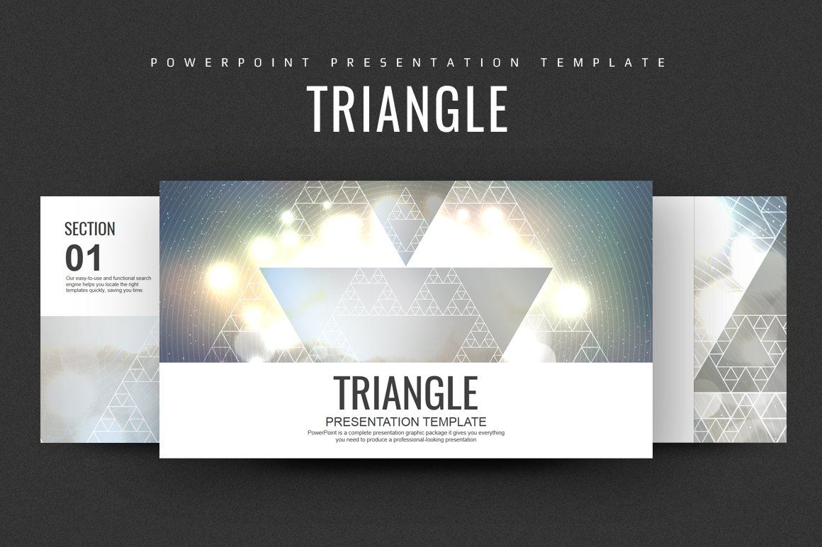 Triangle Ppt Template Presentation Templates Creative Market