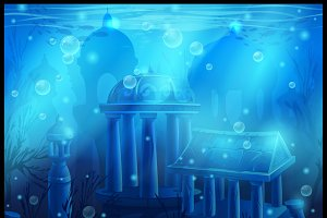 Atlantis seamless underwater city