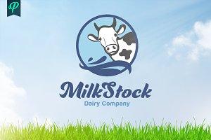 MilkStock - Dairy Company Logo