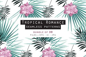 Tropical Romance Patterns Bundle