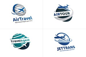 Airplane Travel Logo Set (4 Logos)