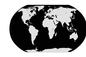World map planet white