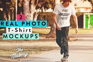 Real photo T-Shirt MOCKUP